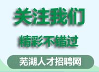 芜湖人才市场星期一(2020-1-13)招聘会预告